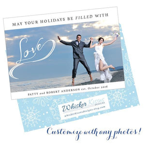 Just Married Christmas Cards - Set of 25