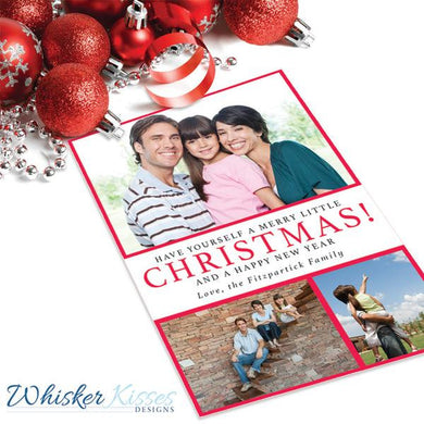Multiple Photo Christmas Cards - Set of 25