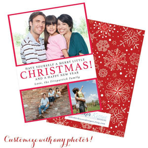 Multiple Photo Christmas Cards - Set of 10