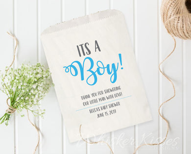 Baby Shower - It's a Boy - Favor Bag - Customizable Favor Bags - Set of 25