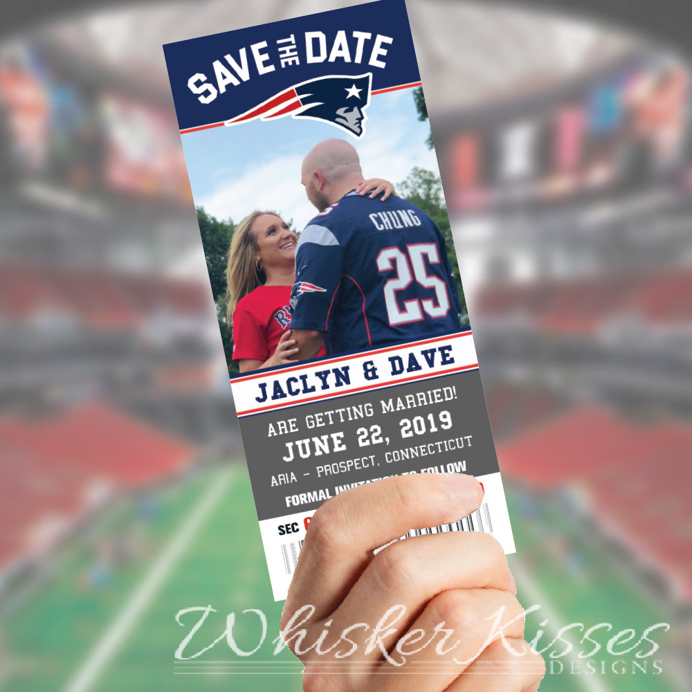 Football Theme Wedding Save the Date - Deposit