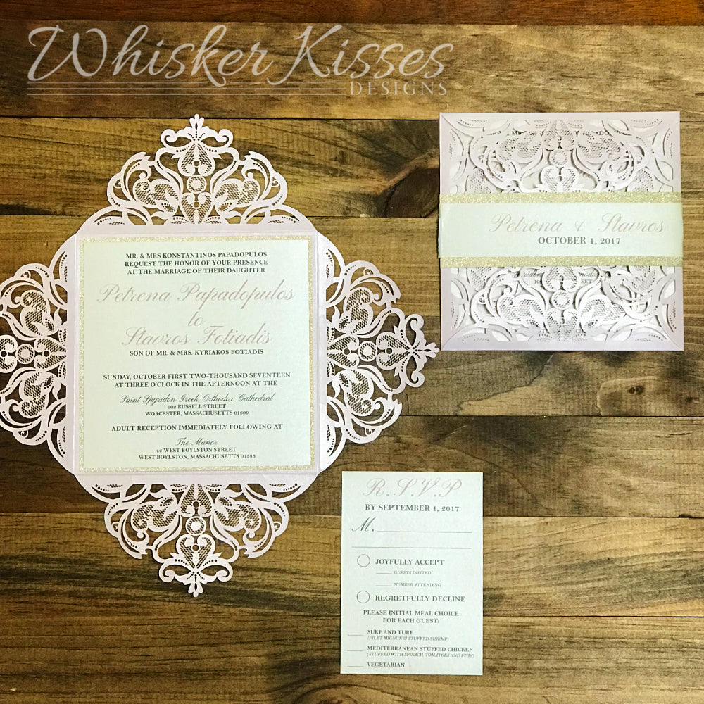 Laser Cut Wedding Invitations And RSVP Suite