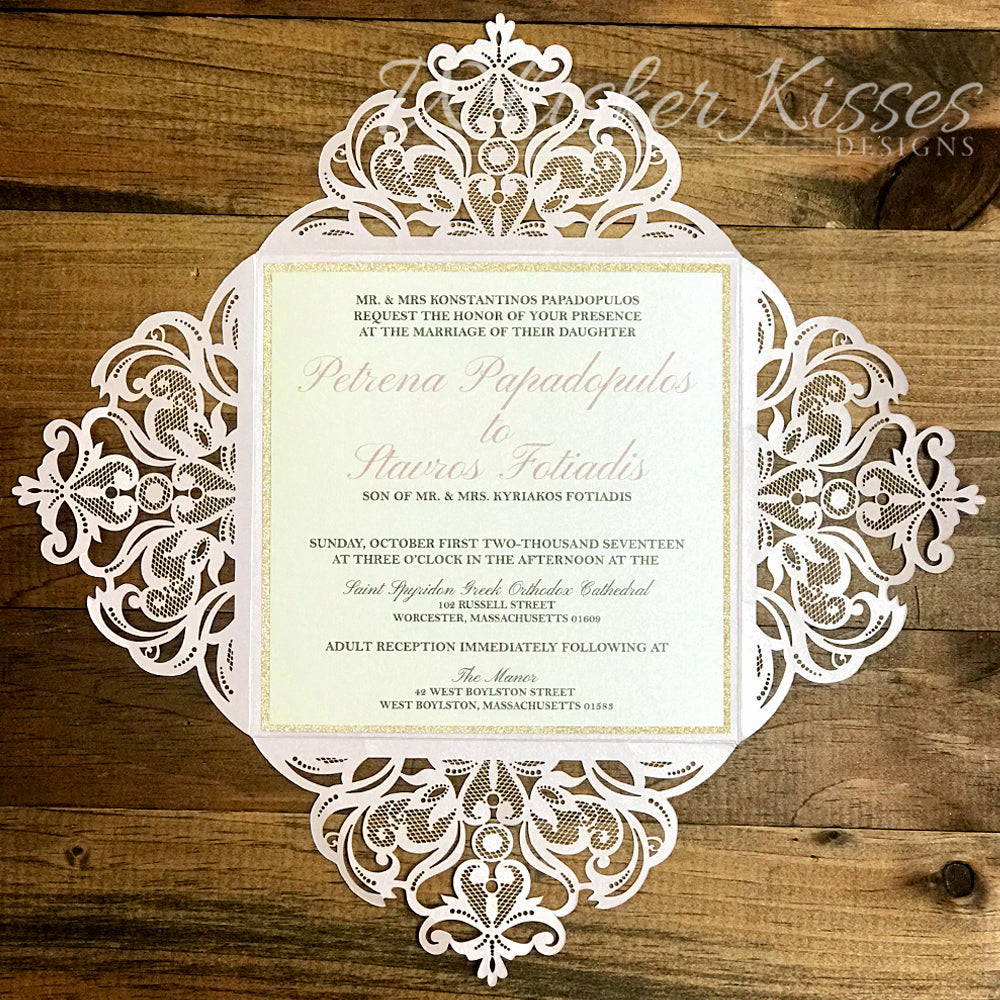 Laser Cut Wedding Invitations and RSVP Suite - Deposit – Whisker ...