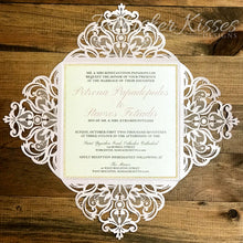 Laser Cut Wedding Invitations and RSVP Suite - Deposit