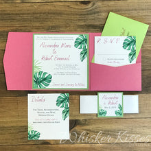 Tropical Square Wedding Invitation and RSVP Suite - Deposit