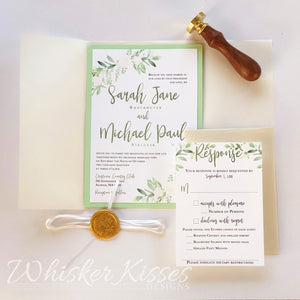 Vellum Wedding Invitations and RSVP Suite - Deposit