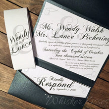 Gatsby Pocket Invitation and RSVP Suite- Deposit