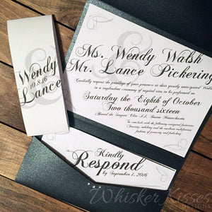 Pocket Style Invitations Whisker Kisses Designs