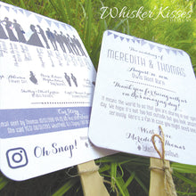 Lavender Wedding Program Fan- Deposit
