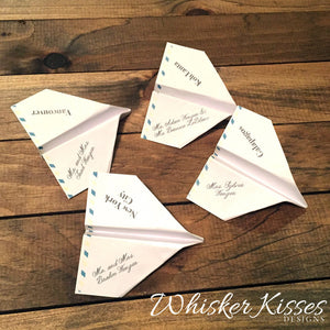 Paper Airplane Seating Cards - Deposit
