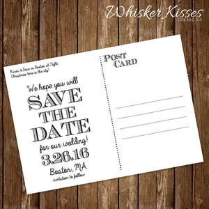 Holiday Save The Date Magnet or Postcard - Deposit