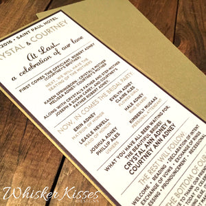 Layered Wedding Program - Deposit