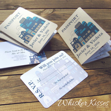 Passport Wedding Invitations - Deposit