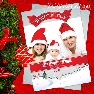 Family Christmas Cards - Sets of 10