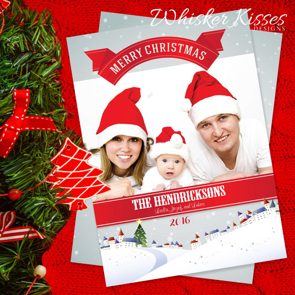 Family Christmas Cards - Set of 25