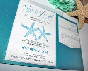 Married by the Sea Pocket Wedding Invitation and RSVP Suite - Deposit