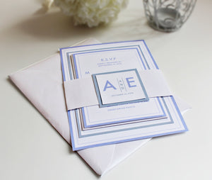 Minimalist Wedding Invitation and RSVP suite - Deposit