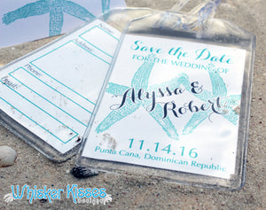 Luggage Tag Save the Date - Deposit