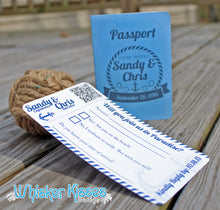 Cruise Passport Wedding Invitations - Deposit