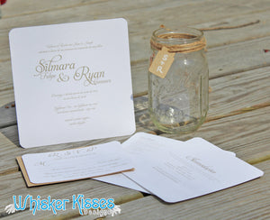 Elegant, Rustic Wedding Invitation and RSVP Suite - Deposit