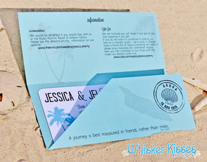Fly away with us Boarding Pass Wedding Invitations or Save the Dates - Deposit