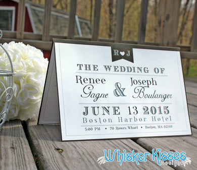 Classic Folded Wedding Program - Deposit