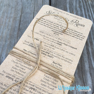 Long Wedding Program - Deposit