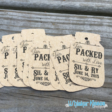 Rustic Wedding Favor Tags - Set of 12