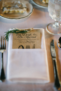 Wedding Menu Card - Deposit
