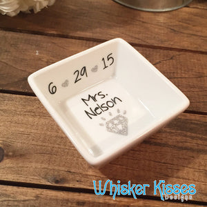 Personalized Ring Dish Jewelry holder