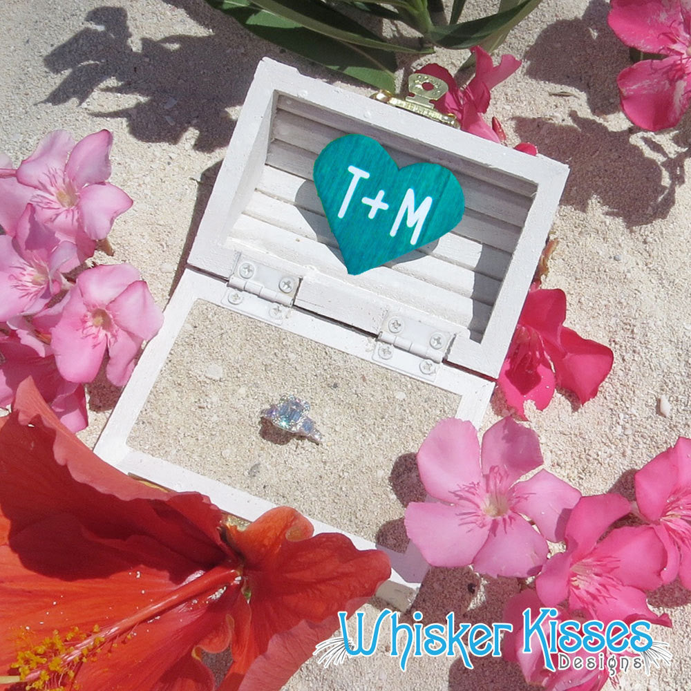 Beach Wedding Ring Box