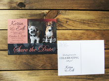 Custom Photo Save the Date with Pet or Engagement Photo