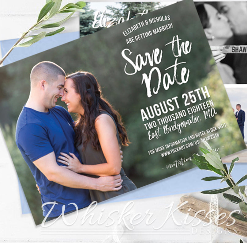 Photo Save the Date Card or Magnet