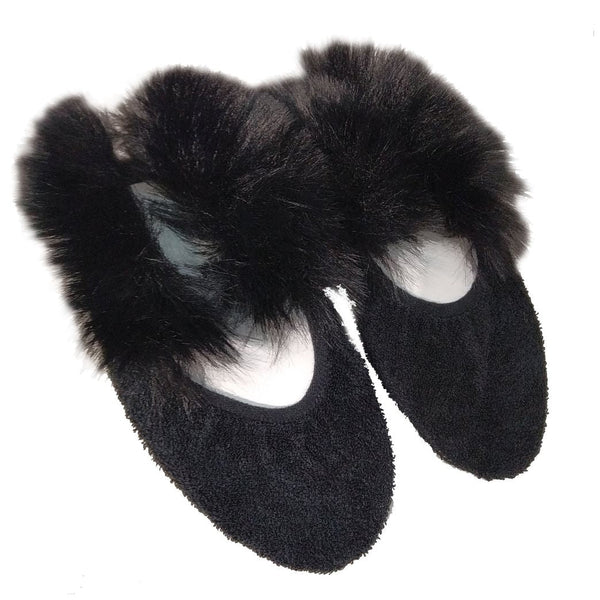 Носки Nors faux fur black/black