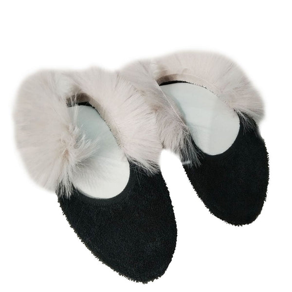 Носки Nors faux fur black/pink