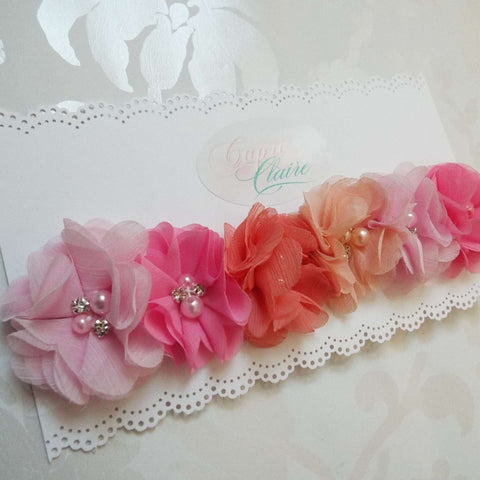 Shades of Pink Floral Crown