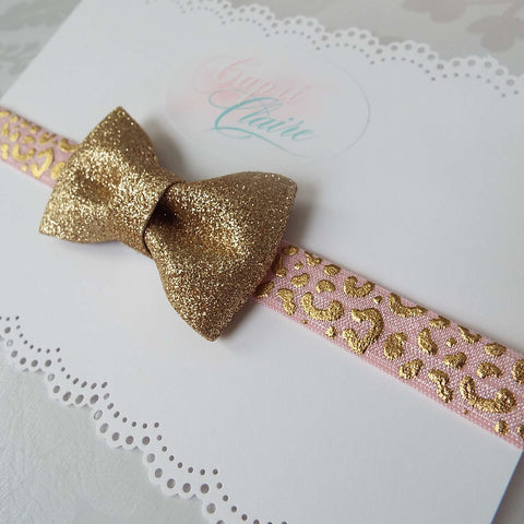 Gold Bitsy Bow