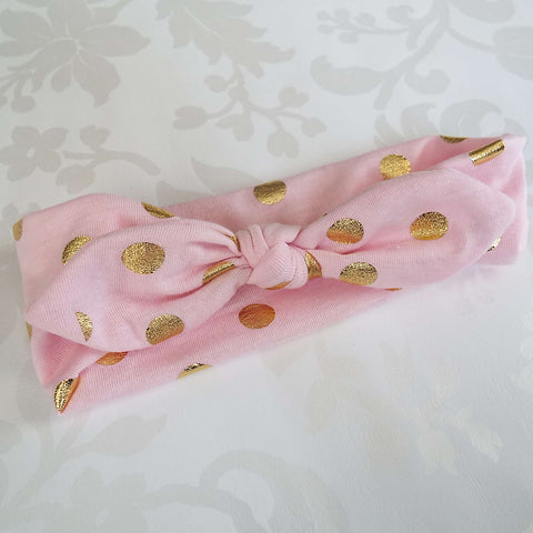 Pink Polka Knot - Slightly Imperfect SALE