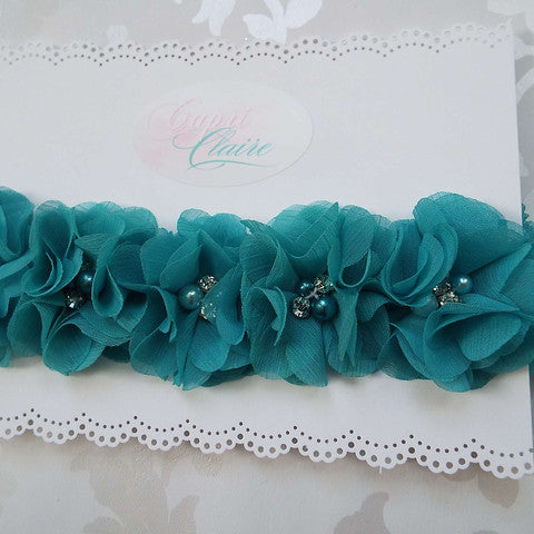 Touch of Teal Floral Crown