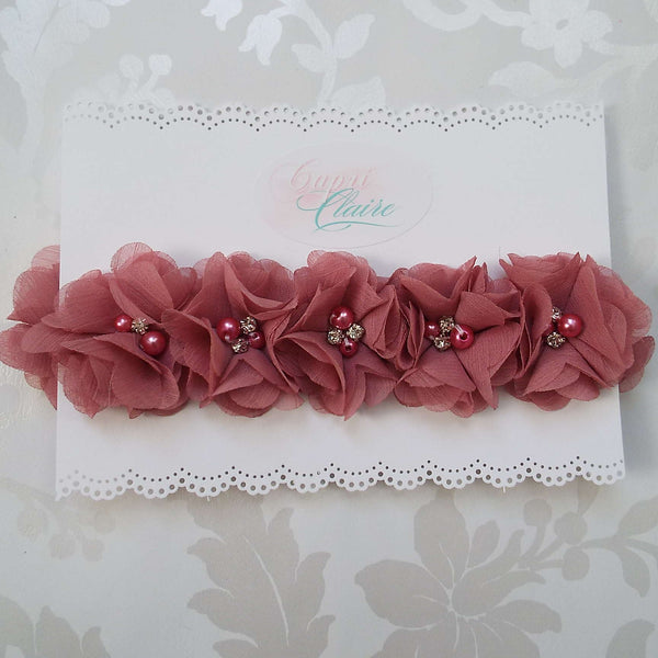 Vintage Rose Floral Crown
