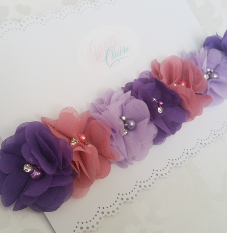 Pop of Purple Floral Crown