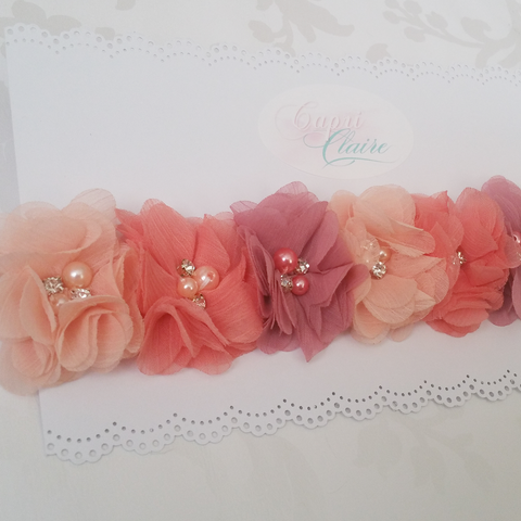 Pretty in Peach Floral Crown