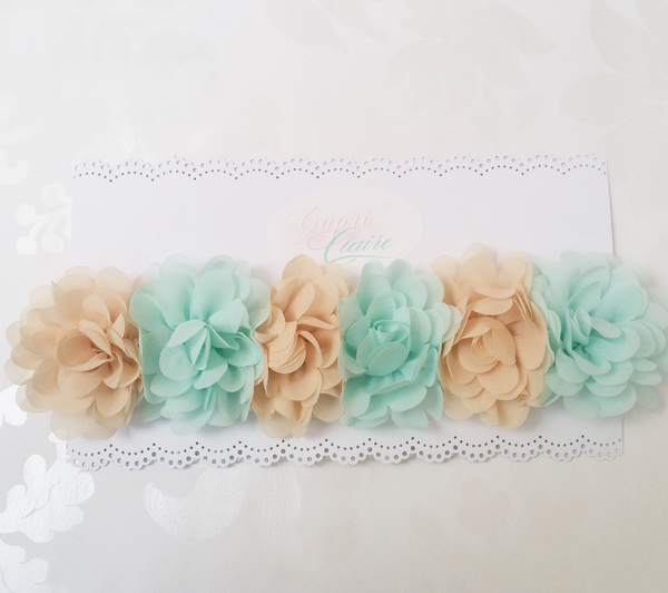 Minty Floral Crown