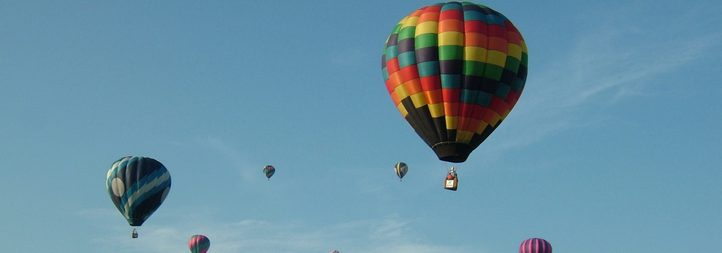 Hot Air balloon elevating above the rest