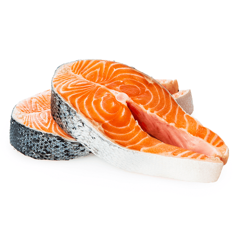 Atlantic Salmon Steaks,  10 oz, $9.95 each