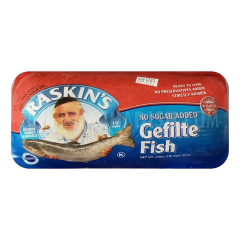 Raskins Gefilte Fish Unsweetened (Passover) $11.99/each