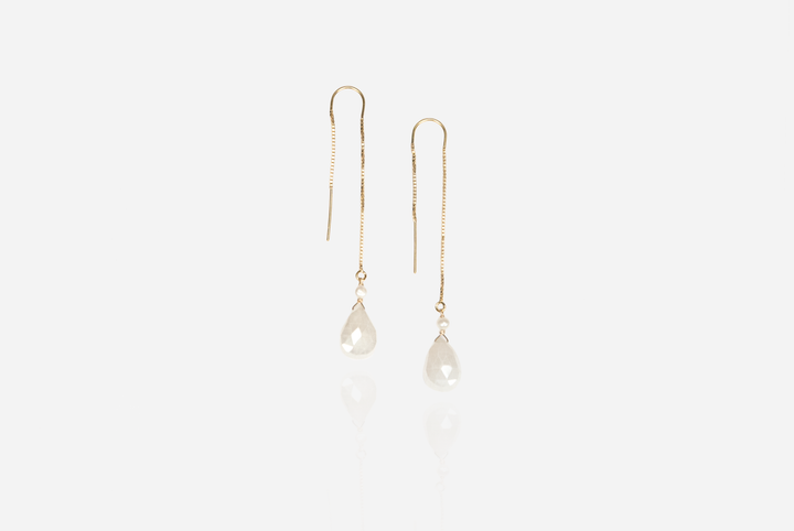 Bijoux – Chalcedony Threader Earrings