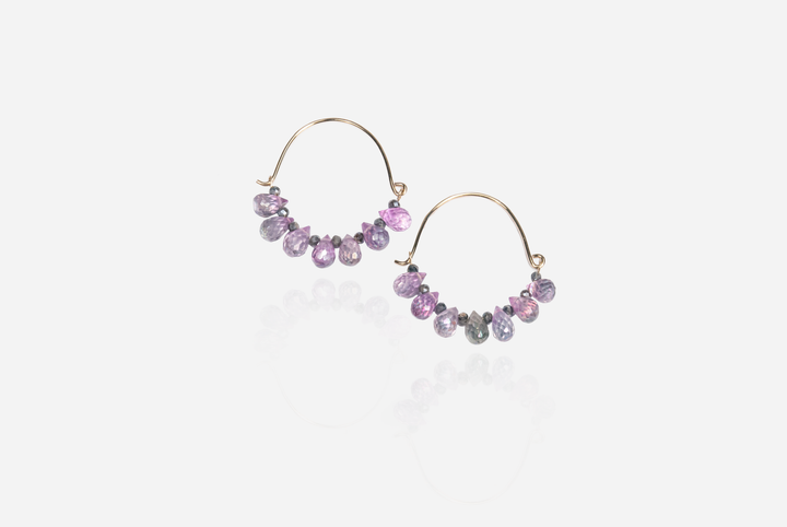 Bijoux Quartz Hoop Earrings