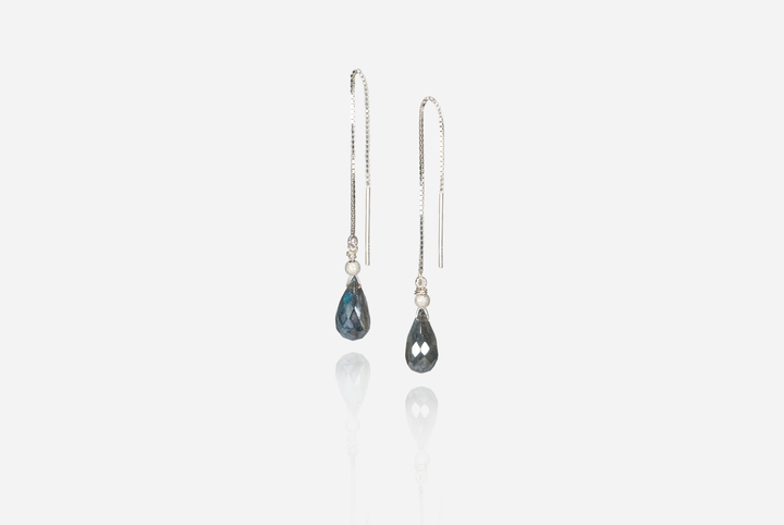 Bijoux Labradorite Threader Earrings