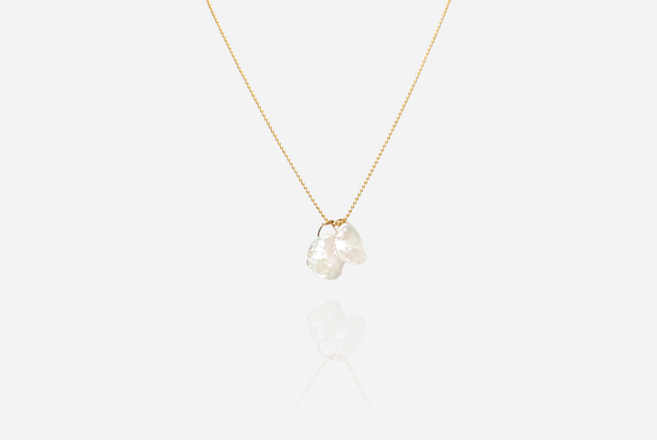 Bijoux Baroque Pearl Gold-Filled Necklace